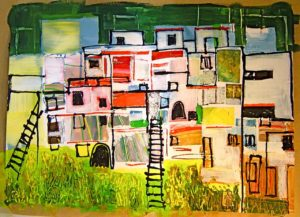 painting of ecovillage torri superiore